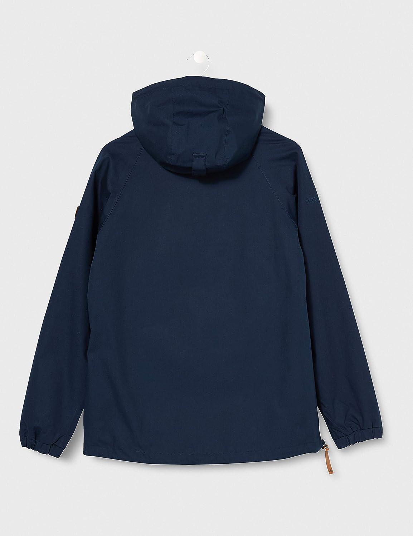 Trespass Womens Entirely Kangaroo Waterproof Rain Jacket with Concealed Hood