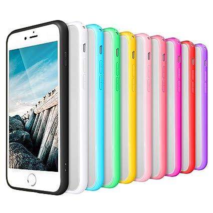 Pofesun Crystal Clear Iphone 8 Plus Case Iphone 7 Plus Case Hard Transparent Back Panel Colorful Soft Tpu Bumper Compatible With Iphone 7 Plus 8