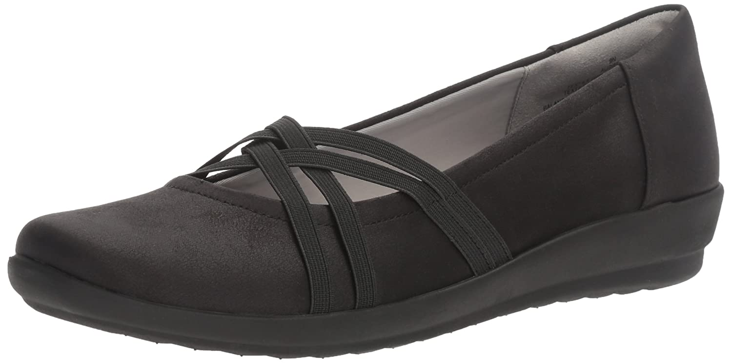 noir Fabric 37.5 EU Easy Spirit Aubree grand Simili Daim Mary Janes