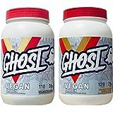 Ghost 100% Vegan Plant Based Protein Powder Variety Packs (1x Pancake Batter / 1x Peanut Butter)