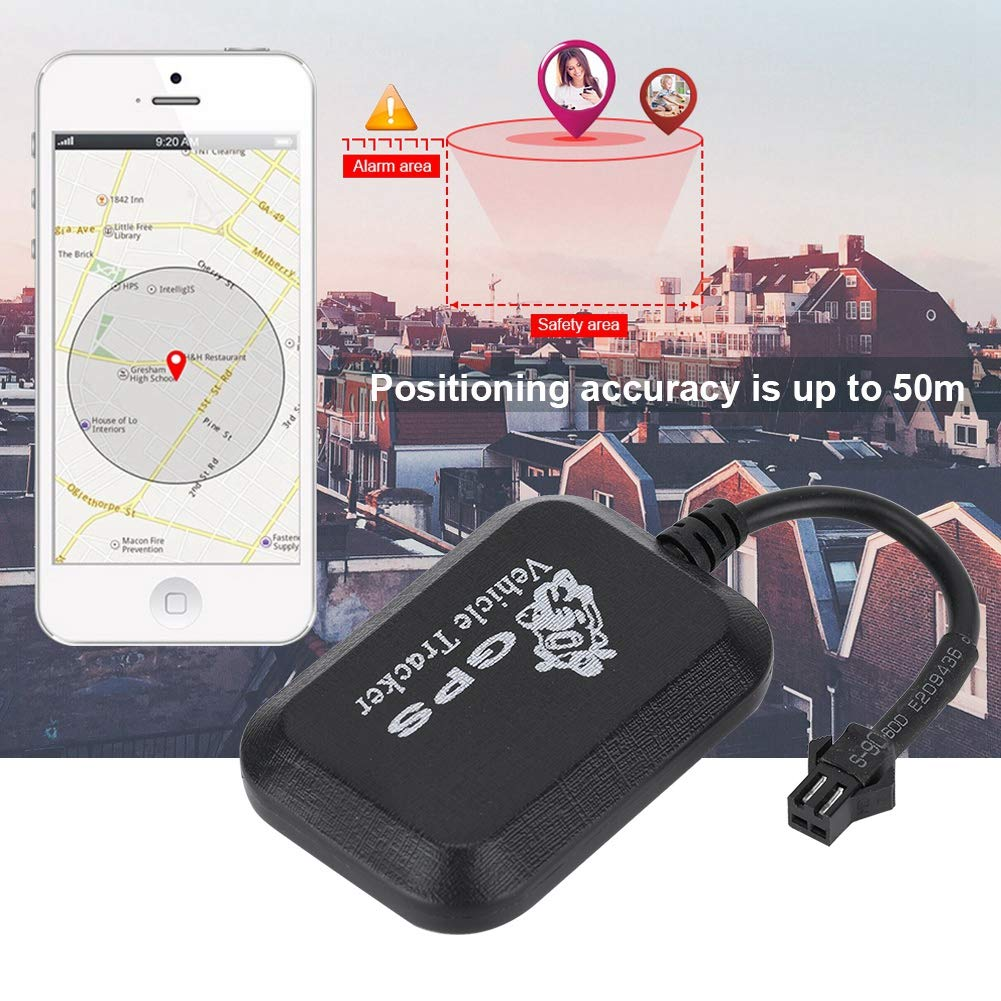 Car GPS Locator Tracker Real Time Tracking System,Global GSM 850//900//1800//1900hz GPS Tracker for Vehicles,GPS 1.3LBS GPRS Support Sound,Shake Alarm and SMS ASHATA Car GPS Tracker