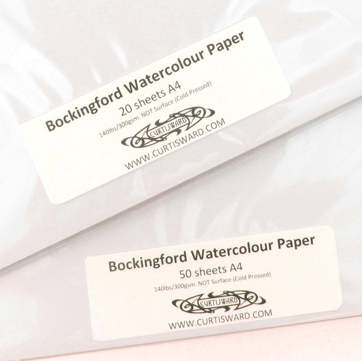 Bockingford artistes Pas Pressée à froid (Surface) de Papier aquarelle Format A4–Lot de 50 feuilles de Papier 300 g Lot Curtisward