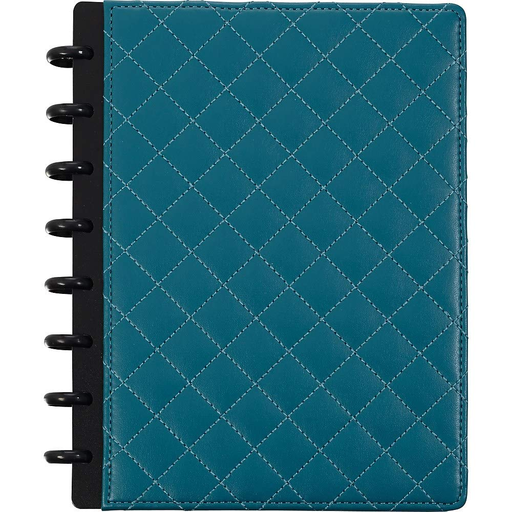 Staples Arc Customizable Quilted Patent Leather Notebook System 60 Sheets - Teal - 8.5 x 11-inches