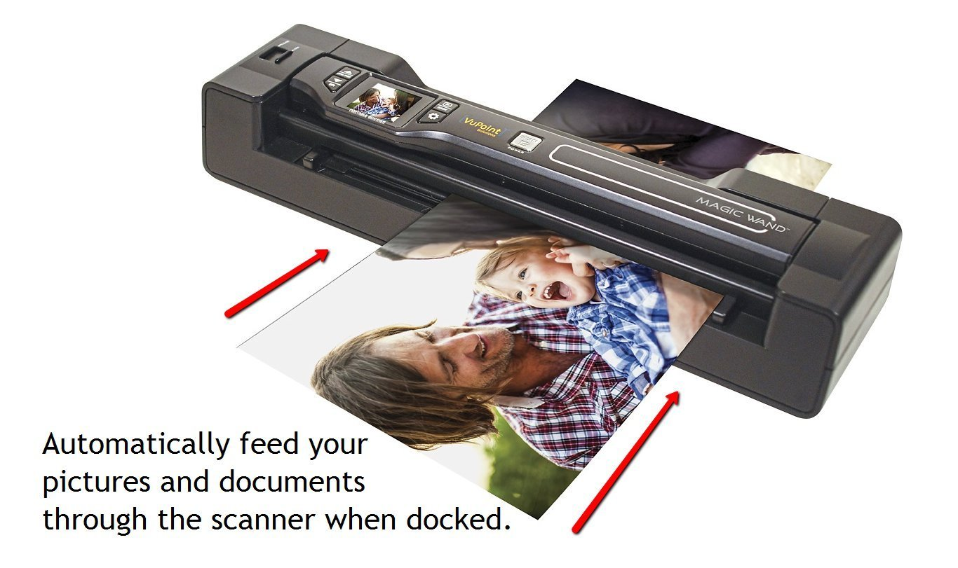 Vupoint Solutions Magic Wand Portable Scanner with 1.5 Inch Color LCD Display and Auto-Feed Dock - for Photo, Document, Receipt (PDSDK-ST470-VP) by VuPoint Solutions (Image #4)