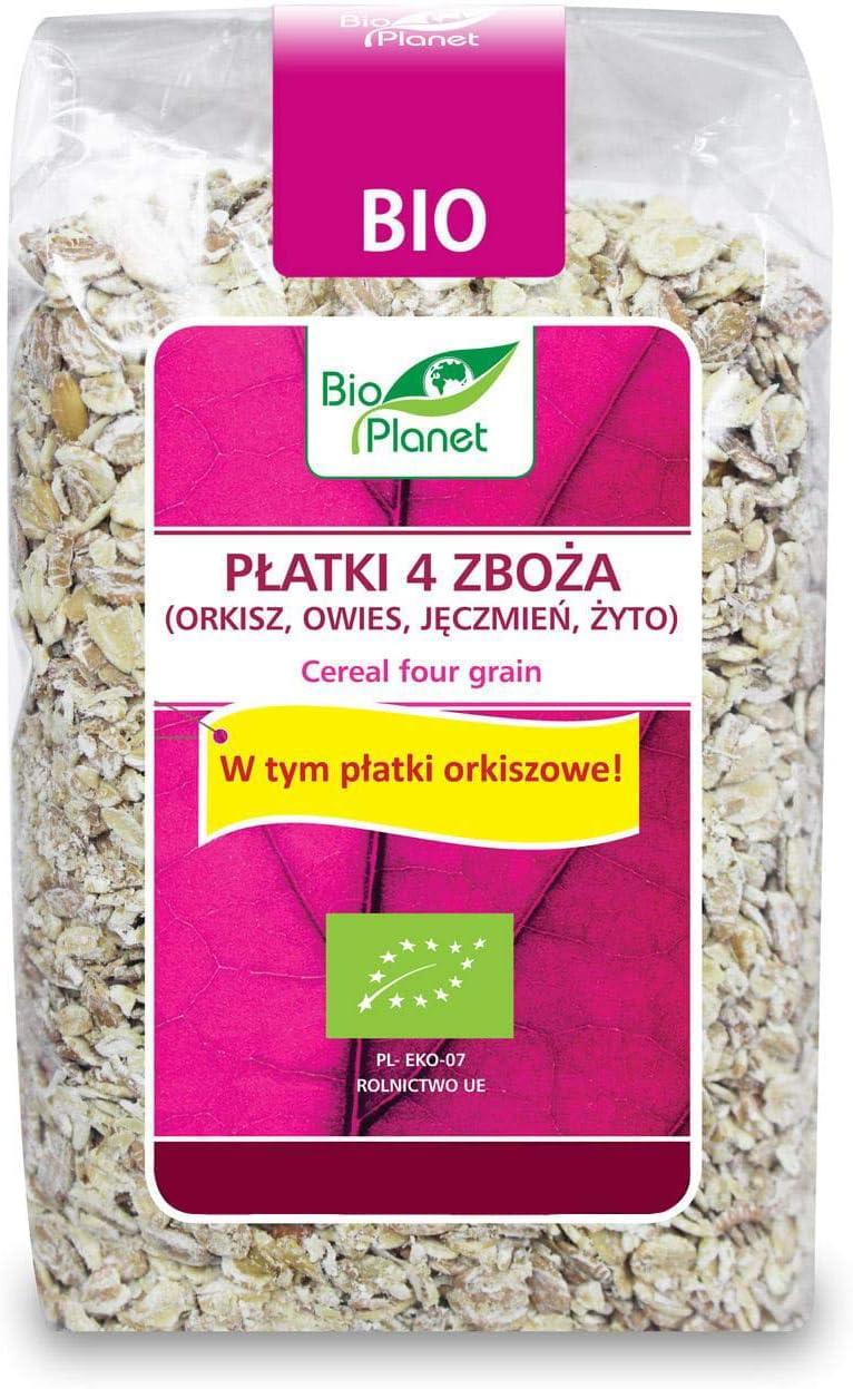 4 cereales (espelta, avena, cebada, centeno) BIO 300 g - BIO PLANET: Amazon.es: Alimentación y bebidas