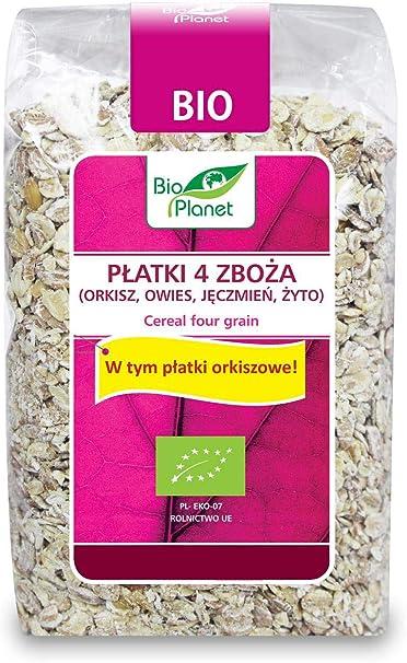 4 cereales (espelta, avena, cebada, centeno) BIO 300 g - BIO ...
