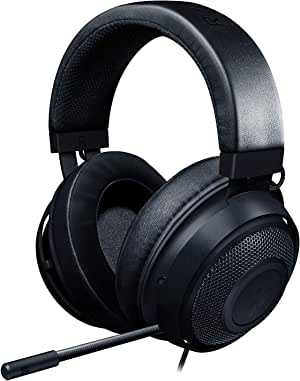 Razer Kraken Gaming Headset: Lightweight Aluminum Frame, Retractable Noise Isolating Microphone, For PC, PS4, Nintendo Switch, 3.5 mm Headphone Jack, Classic Black - RZ04-02830100-R3M1