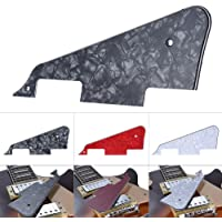 Sangmei 3Ply Pickguard Scratch Plate for Gibson LP Electric Guitar Replacement Part Pearl Black