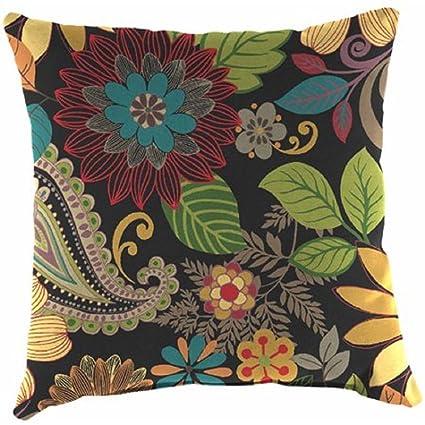 Amazon Com Spun Polyester Indoor Or Outdoor Patio 16 Toss Pillow
