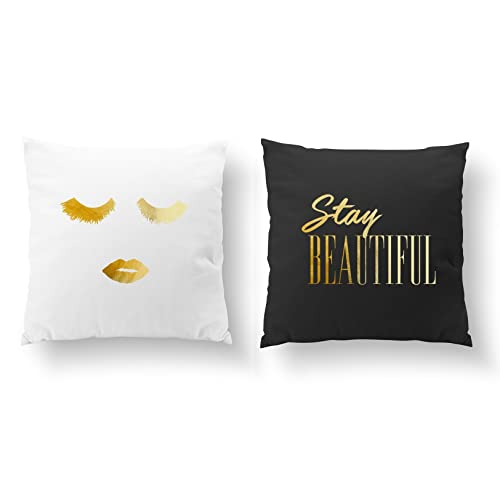 Amazon SET Of 40 Pillows Stay Beautiful Pillow Makeup Pillow Delectable Gold Decorative Bed Pillows