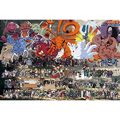 Jqchw Wooden Puzzle 1000 Pieces Cartoon Anime Naruto High Definition Puzzles Assembling Toys Anime Jigsaw Puzzle Adult Decompression Intelligence Toys Puzzle Children Toys Gifts: Toys & Games