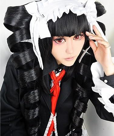 nawomi wig Dangan-ronpa Celestia Ludenberg Black Styled Long Ponytails Cosplay Wig