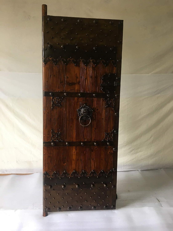 Puerta medieval de antiguo de los derechos de las puertas de madera maciza clavado de puerta corredera Breite80 cm x Höhe200cm