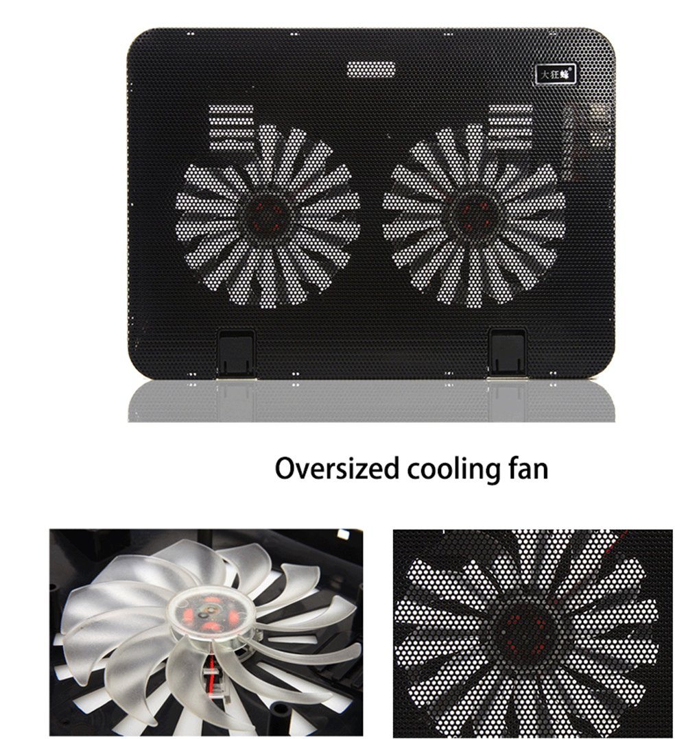iwish design USB Super Ultra Thin 2 Fans Cooling Cooler Pad for 13 14 notebook laptop macbook PC Radiator Pink