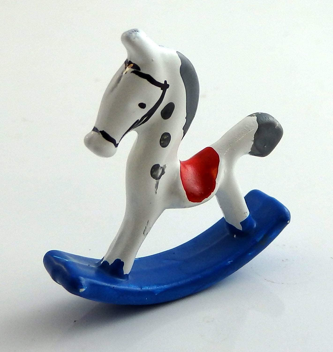 Melody Jane Dolls Houses House Miniature Nursery Toy Shop Accessory 1:12 Small Metal Rocking Horse
