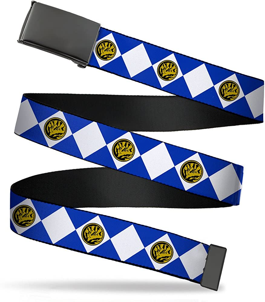Buckle-Down 4075 Accessories Big Web Belt-Diamond Blue Ranger 1.0 Wide-Fits up to Kids Size 20
