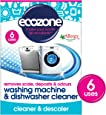 Ecozone Washing Machine and Dishwasher Cleaner x 6 (Pack of 2, Total 12 Uses)