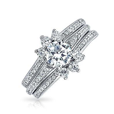 Amazon.com: Bling Jewelry – Guardia ronda Pave CZ Boda ...