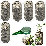 ZeeDix 50 Pcs (40mm) Peat Pellet Fiber Soil Plant Seed Starters - Plugs Pallet Seedling Soil Block, Seed Fertilizer…