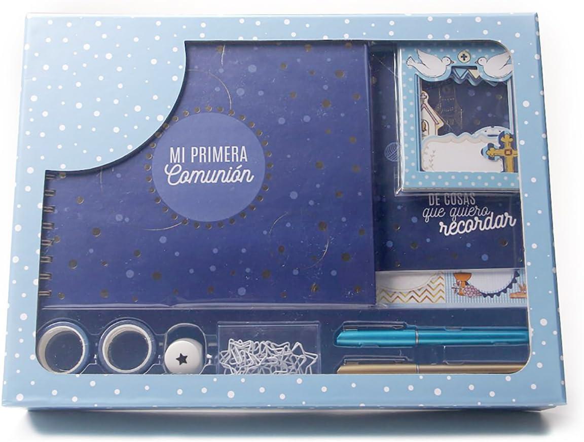 Grupo Erik Editores Regalo de Comunión Niño Original, Cartón, Azul, 30x40x8 cm