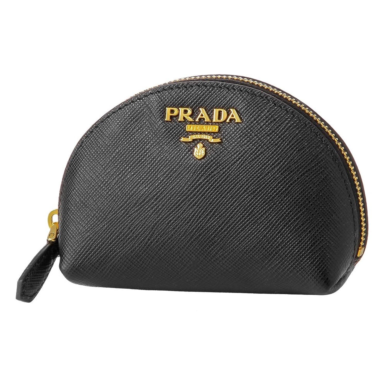 プラダ(PRADA) コインケース 1MM218 QWA F0002 サフィアーノ メタル ブラック 黒 [並行輸入品] B071RNSP7T