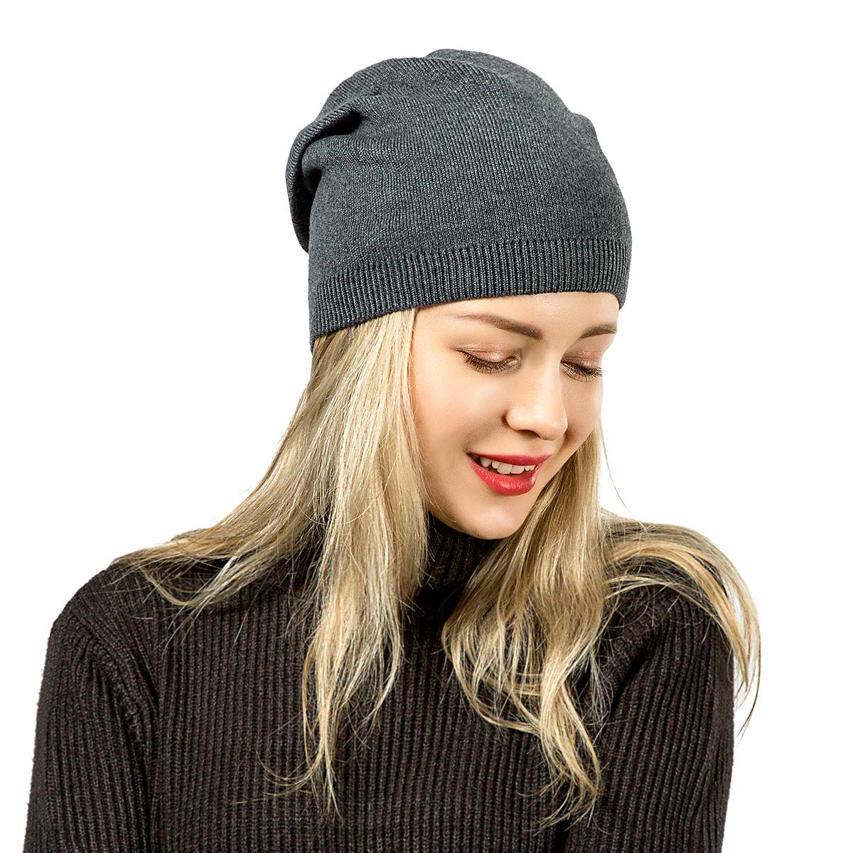 Winter Hats for Women yeabiu Soft Winter Beanies for Women Watch Cap Knit Wool Hat for Winter Fall