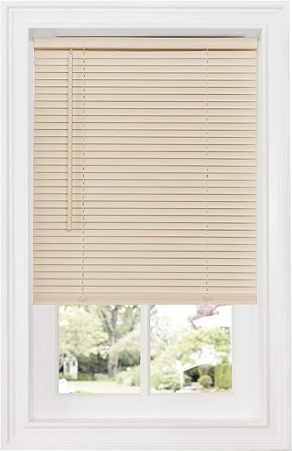 Achim Home Furnishings Cordless Gii Deluxe Sundown 1 Room Darkening Mini Blind 32 X 64 Alabaster Amazon Co Uk Kitchen Home