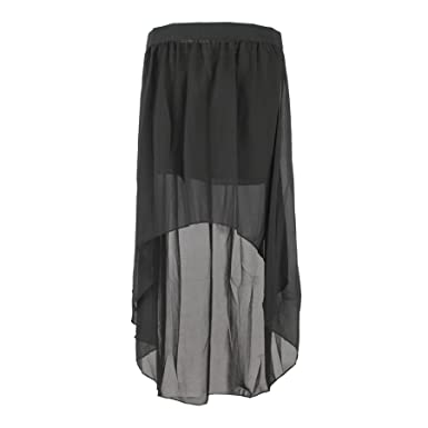 6ccfa1e876 TopTie Flare High Low Chiffon Hi-Low Tulip Skirt: Amazon.co.uk: Clothing