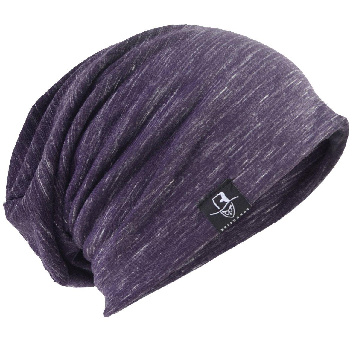 HISSHE Retro Slouchy Beanie Jersey Skull Cap Slouch Baggy Summer Hat B083