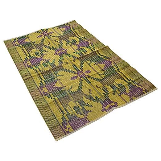 buy recycled plastic woven floor mat chatai large 67 inch by 44 inch durable waterproof great for indoor or outdoor use online at low prices in india - Plastic Floor Mat