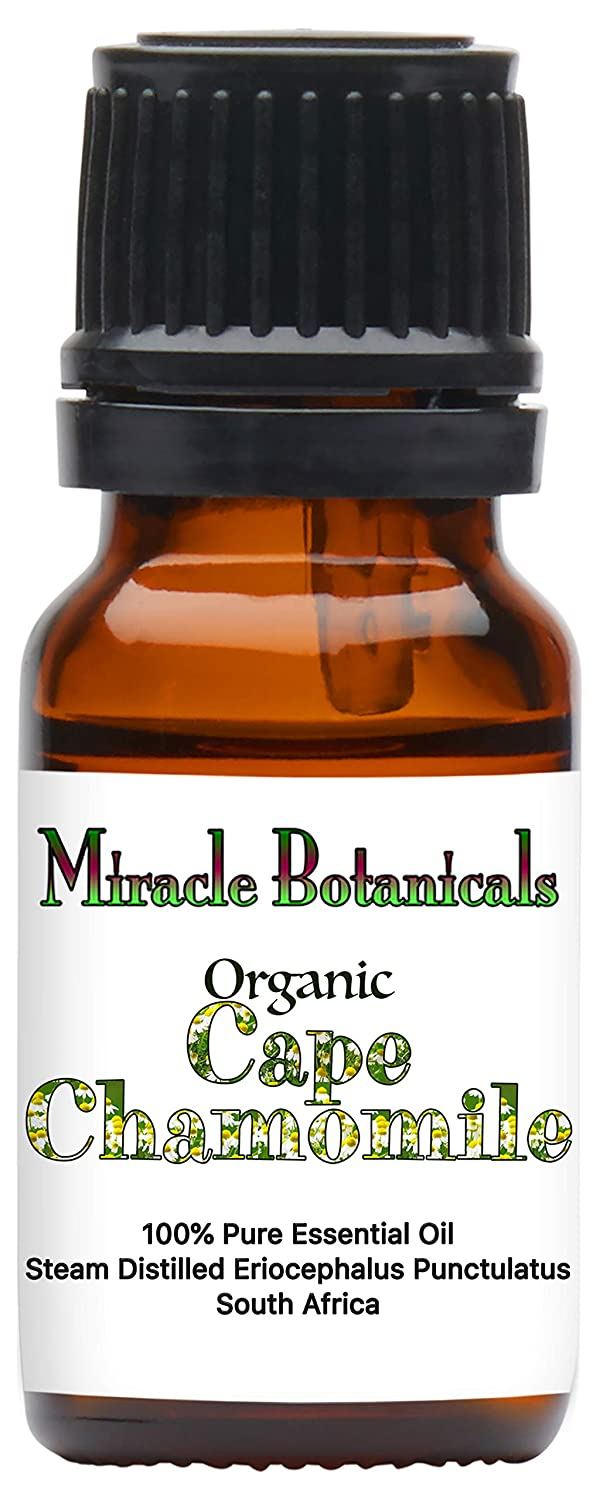 Miracle Botanicals Organic Cape Chamomile Essential Oil - 100% Pure Eriocephalus Punctulatus - Therapeutic Grade - 10ml