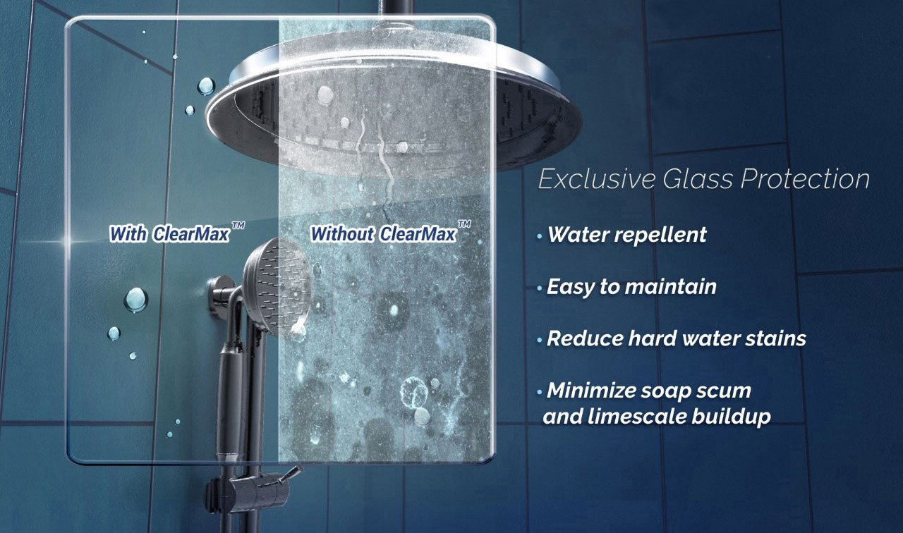 DreamLine Mirage-X 56-60 in. Width, Frameless Sliding Tub Door, 3/8'' Glass, Chrome Finish by DreamLine (Image #6)