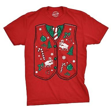 Crazy Dog Tshirts Mens Humping Sweater Vest Tshirt Funny Christmas