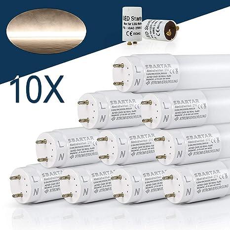10x 150cm LED Röhre Leuchtstoffröhre T8 G13 Tube Neonröhre Leuchte Kaltweiß 22W