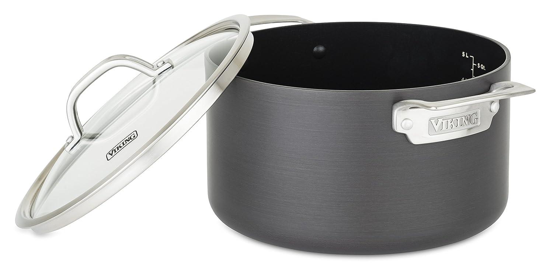 Viking 40051-0326 Hard Anodized Nonstick Dutch Oven, 6 Quart, Gray