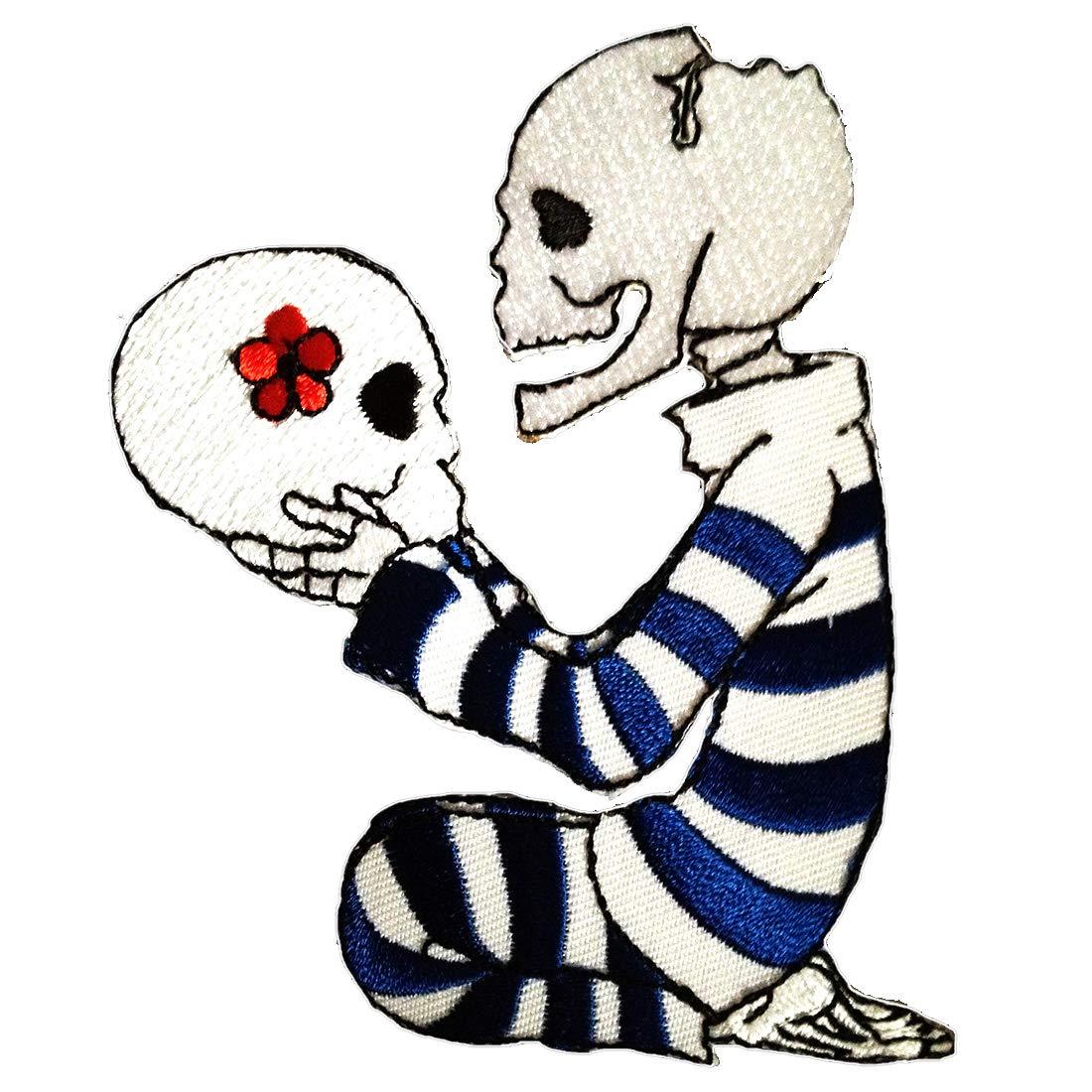 Siempre tuyo cráneo amor para la eternidad Punk Emo Cráneo Patch \'8 ...