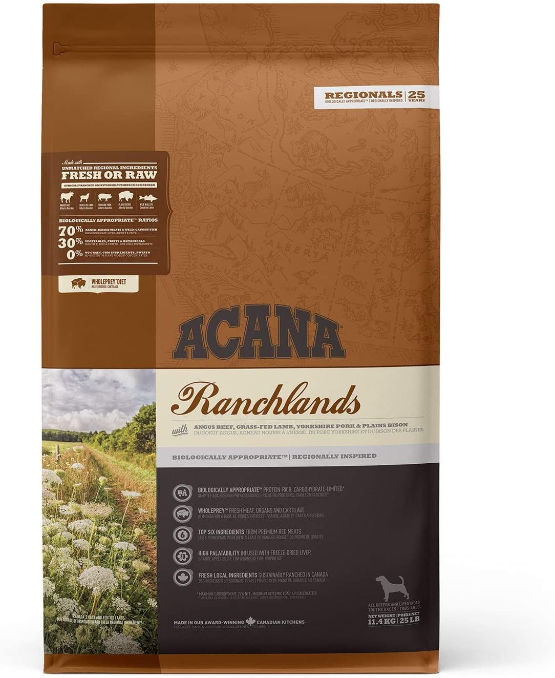 ACANA Ranchlands Comida para Perros - 11400 gr
