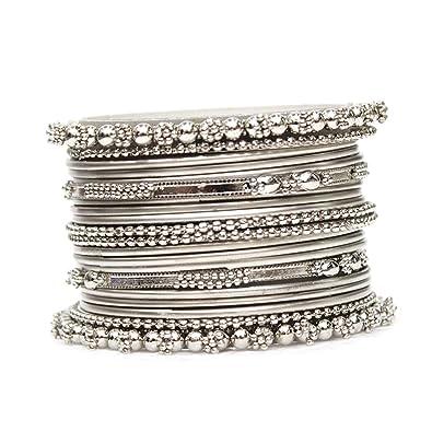 Image result for Silver Metal Bangles