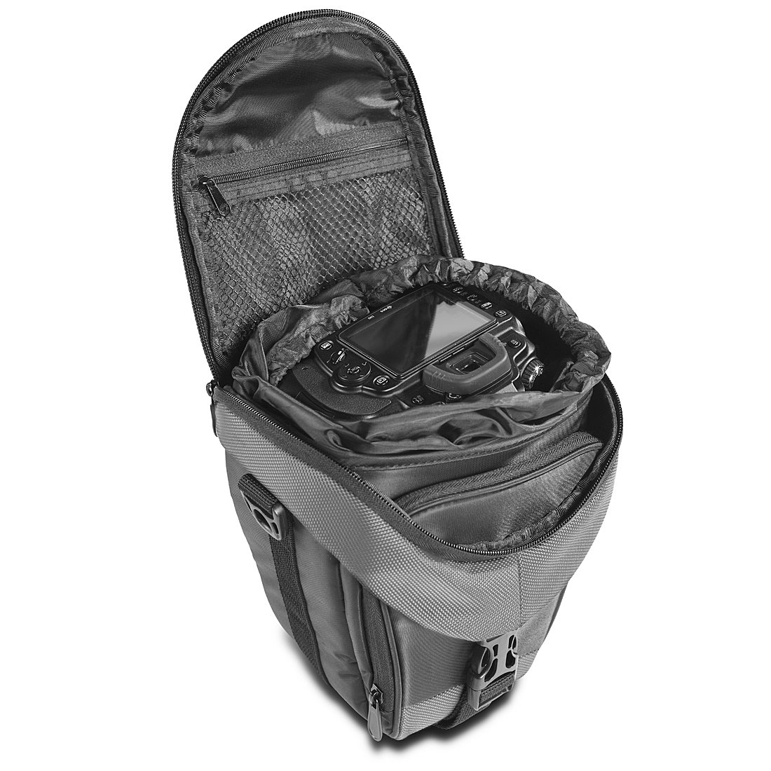 Viola Mantona Premium Colt Borsa per Fotocamere Reflex