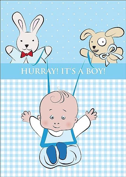 Hermosa tarjeta de bebé (niño), tarjeta de felicitación para el ...