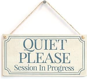 Meijiafei Quiet Please Session in Progress - Functional Small Office/Home Treatment Room Hanging Door Sign 10