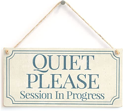 Wood Sign Shh Treatment Progress Please Be Seated Vinyl Sign Office Decor Business Sign Quiet Please Wait Door Sign Entrance Decor Wall Sign