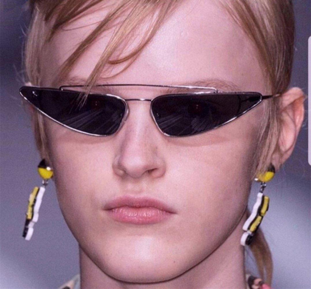 14501da434 Gafas De Sol Europa Y Estados Unidos Street Beat Vintage Caja Pequeña Gafas  En Forma De Gota Gafas De Sol De Metal Gatos Ojos Gafas De Sol Mariposa ...