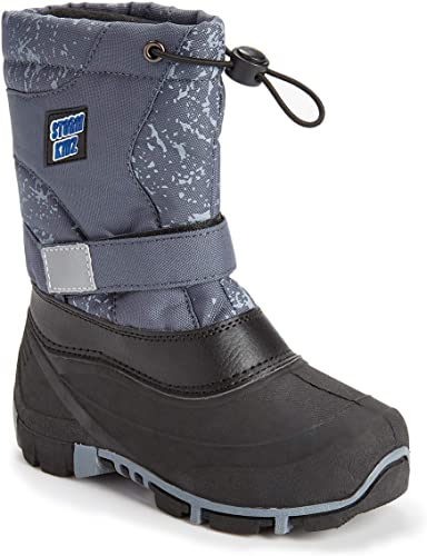 Waterproof Insulated Cold coloing Kids Snow Boots Toddler Boots Fur Lined