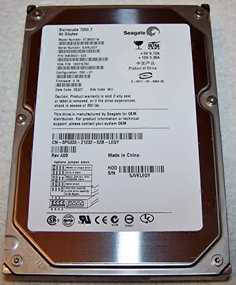 SEAGATE ST380011A DRIVERS WINDOWS XP