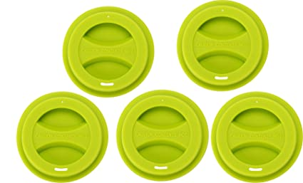 8b3e8dfd44e 5/pack Travel Mug Lid, KSENDALO Reusable Silicone Mug Lids for 12oz/16oz  Coffee Cups, Spill-Proof Drinking Coffee/Tea Silicone Cup Cover, Green
