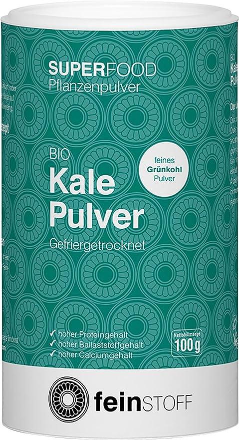 feinstoff Kale Pulver, 100 g Dose: Amazon.es: Deportes y aire libre