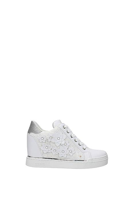 6321fad4 Sneakers Guess Mujer - Poliéster (FL5FLWLAC12WHITE) 41 EU: Amazon.es:  Zapatos y complementos