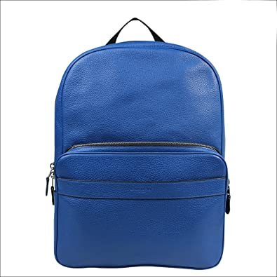 Amazon.com: Coach F72082 Hamilton Pebbled Leather Backpack in Blue ...