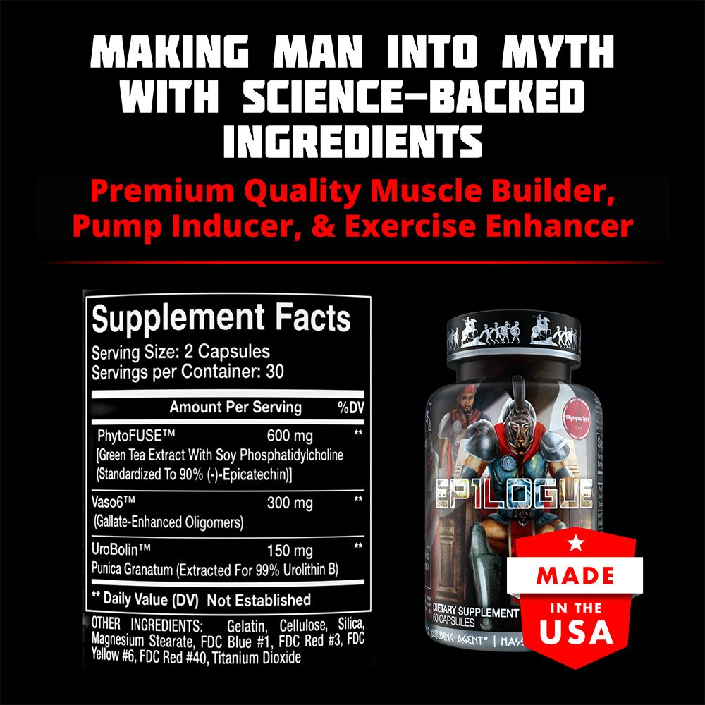 EP1LOGUE Muscle Builder & Epicatechin Supplement w/ Superior Absorption   Lean Muscle Building Formula w/ Nitric Oxide Stimulator VASO-6 & Urolithin B for Natural Body Building by Olympus Labs (Image #2)